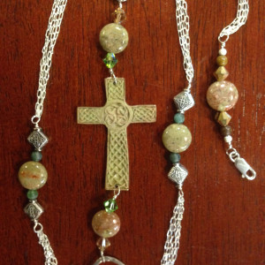 Bronze Celtic Cross Necklace