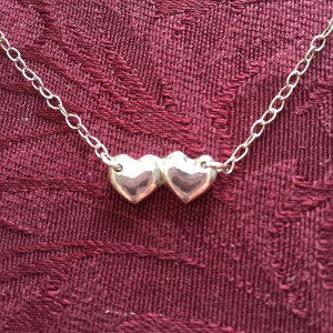 Double Heart Monogram Necklace1