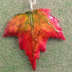 Fall Leaf - Large Copper
