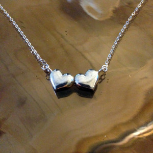 GMD - Double Heart Monogram Necklace4