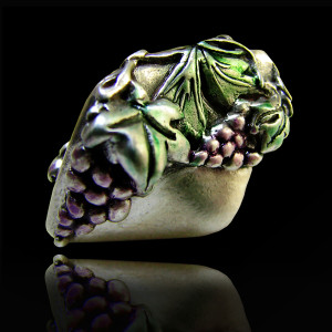 Grapes Leaves Bead