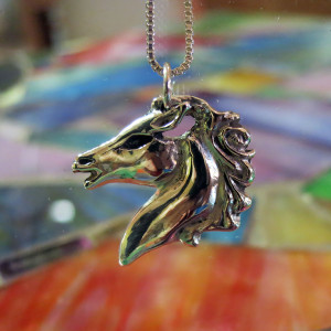 Horse Pendant - Sterling Silver