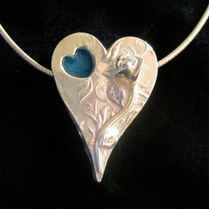 Large Heart Pendant Open Box