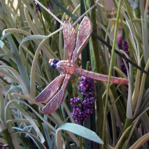 Sterling Silver Painted Dragonfly Pendant2