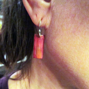 Copper Rectanglar Small Earrings2