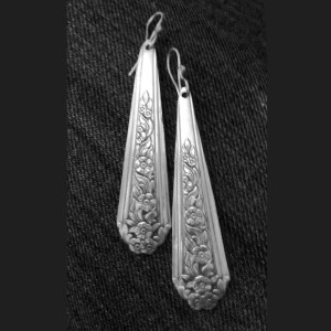 Custom Silverware Earrings