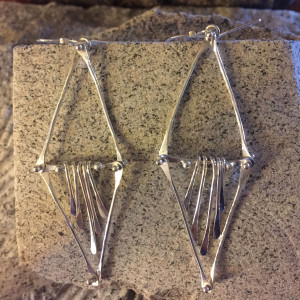 Diamond Shaped Sterling Earrings