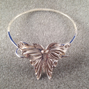 Fine and Sterling Silver Butterfly Bracelet2