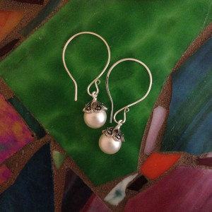 Pearl and Malakite Earrings