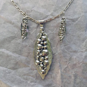 River Rock Pendant and Earrings Style 1 -2