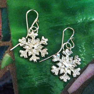 Snowflake 2 Earrings-2