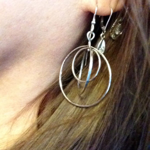 Sterling Kinetic Hoop Earrings