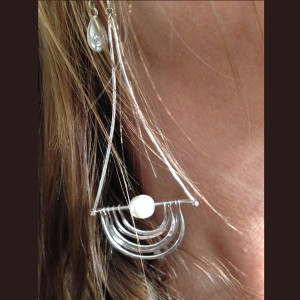Very Long Sterling and Pearl Earrings3